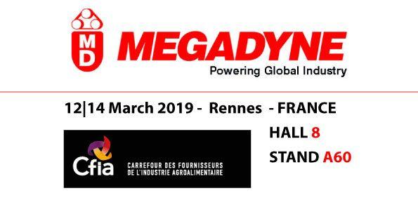 Megadyne will exhibit at CFIA Rennes 2019